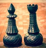 Figuras de xadrez ao ar livre — Foto Stock