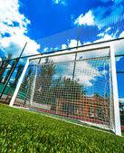 Goal net on football stadium — Stock Photo