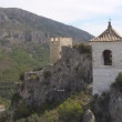 Castle Guadalest in mountains — Stock Video