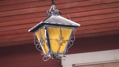 Old Hanging Light — Stock Video