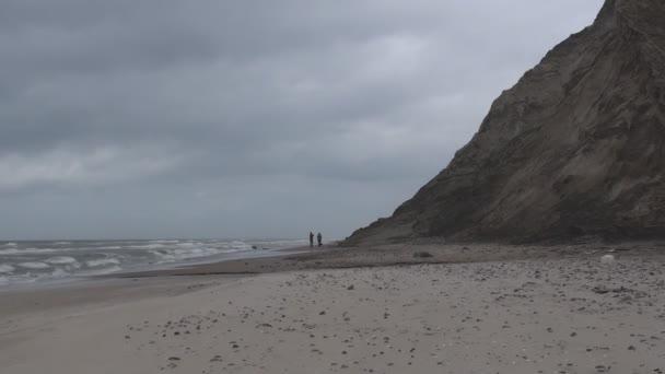 Marcher sur un bord de mer — Vidéo