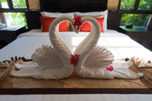 Thaiand Hotel Swans — Stock Photo