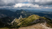 Tatry Mountains Views and Trekking Czerwone Wierchy — Stock Photo