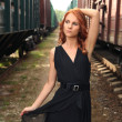 In the railroad - Stock Photo