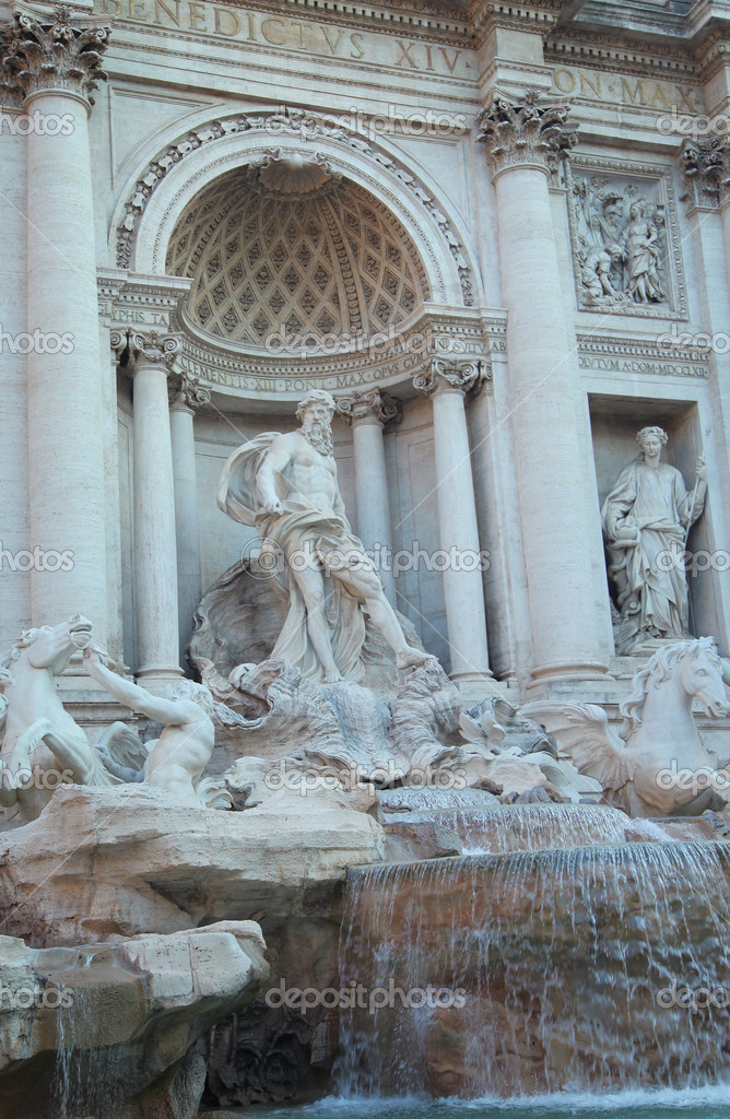The Trevi Fountain (Fontana di Trevi), Rome, Italy — Stockfoto #12659504