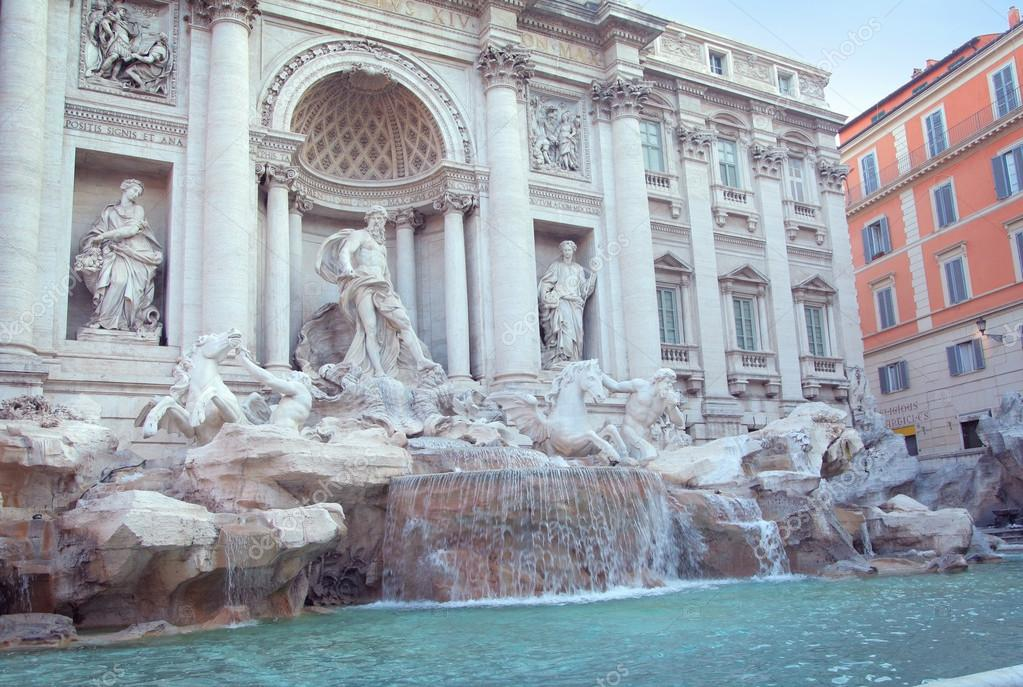 The Trevi Fountain (Fontana di Trevi), Rome, Italy — Stock Photo #12659515