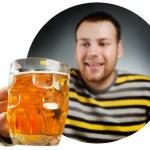 Пьяный парень — Стоковое фото