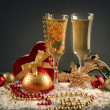Golden celebration - Stock Photo