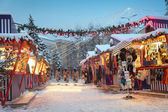 Lights and snow — Stock Photo