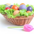 Colored eggs - Stock Photo