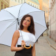 Rain in summer — Stock Photo