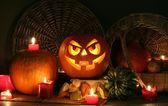 Halloween faces — Stock Photo