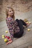 Autumn apple — Stock Photo