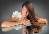 Lily no espelho — Foto Stock