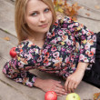 appels in park — Stockfoto