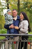 Szczęśliwy młodej rodziny — Zdjęcie stockowe