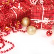 Presents and balls — Stock Photo
