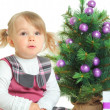 Purple tree — Stock Photo