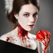 Stock Photo: Bloody vampire