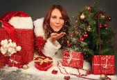 Christmas snow — Stock Photo