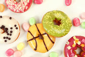 Coloured donuts — Stock Photo