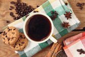 Coffee and cookie — Stock Photo