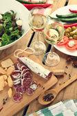 álcool e alimentos — Foto Stock