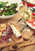 Presunto e vinho — Foto Stock