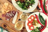 Almoço e vinho — Foto Stock