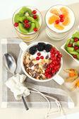 Breakfast on table — Stock Photo