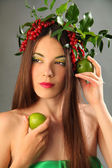 Green lime — Stock Photo
