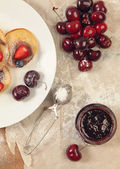 Berries and marmalade — Stock Photo