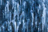 Frusna vattenfall i istappar — Stockfoto