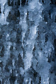 Frozen waterfall in icicles — Stock Photo