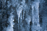 Frozen waterfall in icicles. — Stock Photo