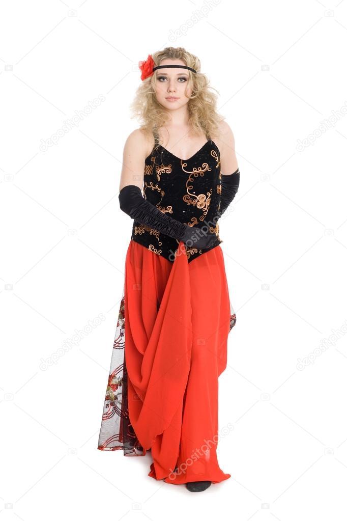 Девушка танцующая фламенко фото