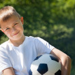 Boy with soccer ball. — Stock Photo #29422727