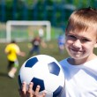 Boy soccer player  — Stockfoto