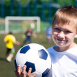 Boy soccer player — Stock Photo