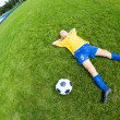 Dreaming boy soccer player — Stock Photo #31069603