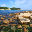 Rocky sea coast of Russia — Stock Photo