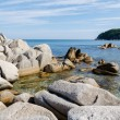 Rocky sea coast of Russia. — Stock Photo