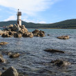 Lighthouse on the eastern coast of Russia.  — Foto Stock