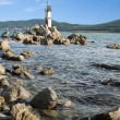 Lighthouse on the eastern coast of Russia — Foto de Stock