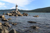 Lighthouse on the eastern coast of Russia. — Stock Photo