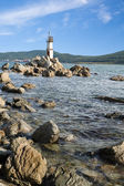 在俄罗斯联邦的东部海岸上的灯塔 — 图库照片