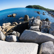 Summer landscape of rocky sea coast.  — Foto de Stock
