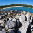 Summer landscape of rocky sea coast. — Foto Stock