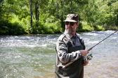 Prises de pêcheur de saumon — Photo