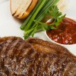 Stock Photo: New york steak